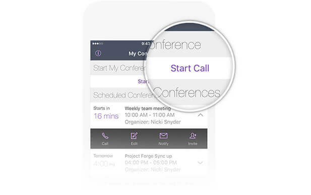 Start Conference Call