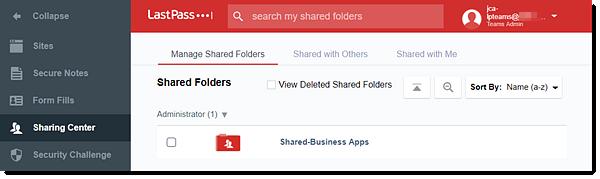 Manage LastPass Teams Shared Folders (Users)